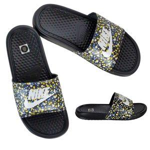 New Nike benassi jdi print floral slide sandals